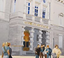 National Gallery of Ireland with Pedestrian Traffic by jlight