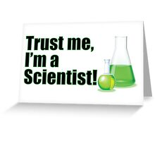 Trust Me I'm a Scientist Lab Technician Bottles Quote Greeting Card