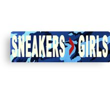 SNEAKERS ADDICT NAVY Canvas Print