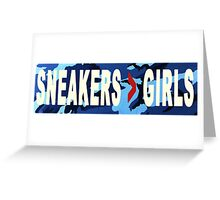 SNEAKERS ADDICT NAVY Greeting Card