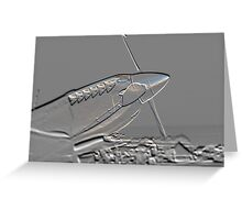 Spitfire Mk 1A aircraft embossed Greeting Card