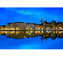 Reflections of Gamla Stan - Stockholm, Sweden Photographic Print