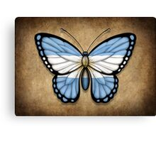 Argentinian Flag Butterfly Canvas Print