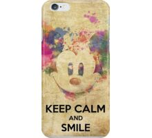 Keep Calm and Smile iPhone Case/Skin