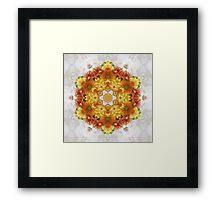 Gold Chrysanthemum Kaleidoscope Art 2 Framed Print