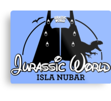 Jurassic World Disney Castle (BLACK) Metal Print