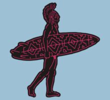 Indian Surfer [sticker version] One Piece - Short Sleeve