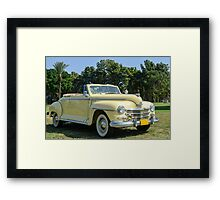 classic 40's Plymouth convertible  Framed Print