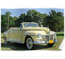 classic 40's Plymouth convertible  Poster
