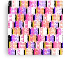 Girly Colorful Funky Watercolor Pattern Canvas Print