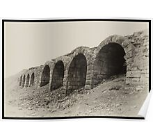 Old Lime Stone Kilns - Rosedale Poster