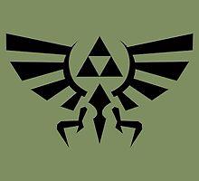 The Legend of Zelda - Hyrule Symbol by TylerMellark