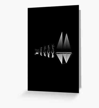 Sailing Evolution Greeting Card