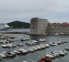 cruise ship leaves dubrovnik by jon  daly