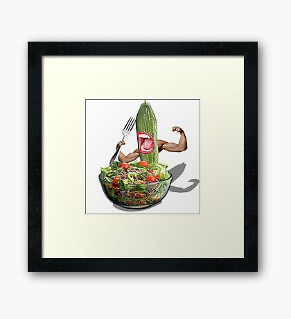 Cucumber salad  Framed Print