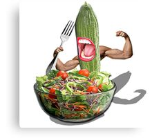 Cucumber salad  Canvas Print