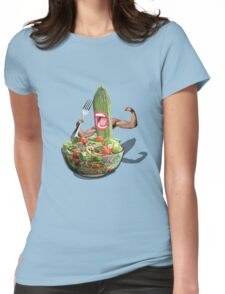 Cucumber salad  Womens Fitted T-Shirt