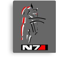 Mass Effect - Shepard N7 Symbol Canvas Print