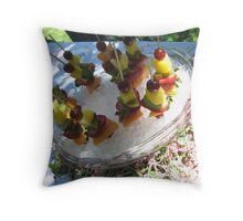 Fruit Kabobs Throw Pillow