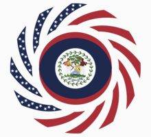 Belizean American Multinational Patriot Flag Series by Carbon-Fibre Media