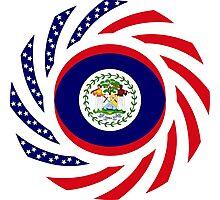 Belizean American Multinational Patriot Flag Series Photographic Print