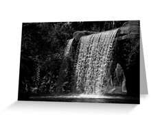 And Water Falls Greeting Card