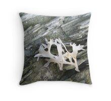 White Seaweed Throw Pillow