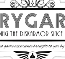 Rygar - Art Deco Black Sticker