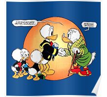 First encounter Scrooge McDuck and Donald Duck Poster