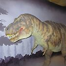 Dummy of a dinosaur inside a museum in London by ashishagarwal74