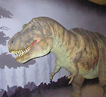 Dummy of a dinosaur inside a museum in London by ashishagarwal74