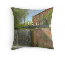 Cottage at Whilton Locks Throw Pillow