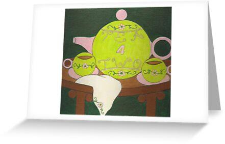 Tea 4 Two ~ Tennis by Paula Parker