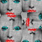 Vintage Face Pop Art by Edward Fielding