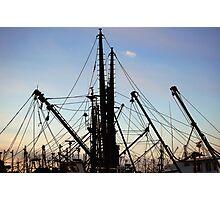 Fishing  Masts  Photographic Print