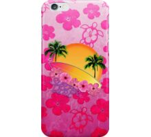 Surfer Girl Pink Hibiscus iPhone Case/Skin