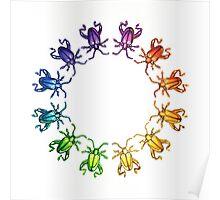 """""""Sagra femorata Color Wheel"""" Watercolor Poster"""