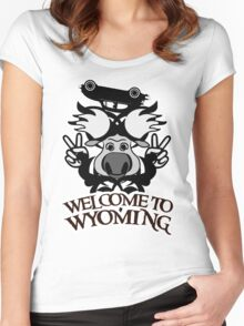 Tribal moose t-shirt Women's Fitted Scoop T-Shirt