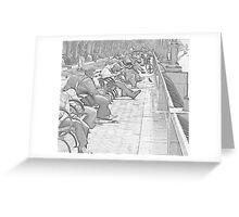 Battery Park By The River Greeting Card