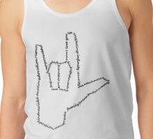 I love you - ASL Tank Top