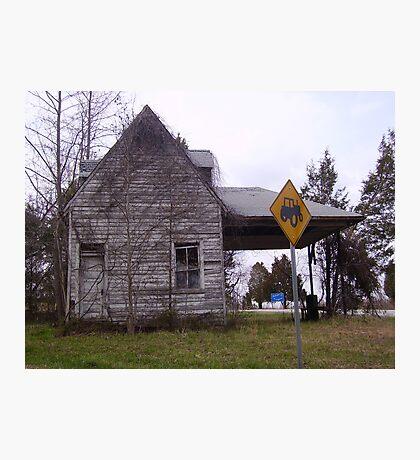Farmer Crossing Photographic Print