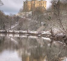 Warkworth Castle in the Snow by moorhen