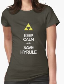 Keep Calm And Save HYRULE Womens Fitted T-Shirt