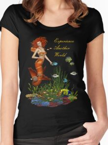 Experience Another World Women's Fitted Scoop T-Shirt