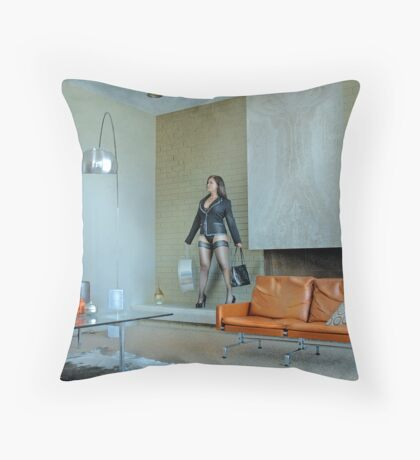The Trophy Wife Throw Pillow