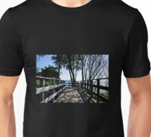 Bridge At Langmoor-Lister Gardens Unisex T-Shirt