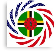 Dominica American Multinational Patriot Flag Series Canvas Print
