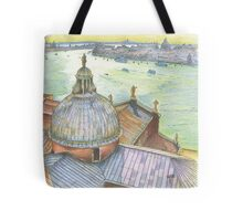 VENICE. View to Grand Canal from Basilica Di San Giorgio Maggiore.  Tote Bag