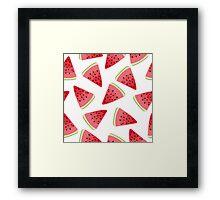 Watermelon illustration pattern Framed Print