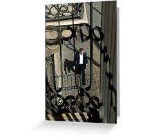 Smart Spanish Suit Greeting Card